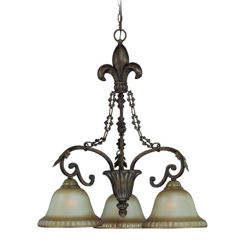 Jeremiah Lighting Jeremiah Devereaux Burleson Bronze Chandelier 25743-BBZ