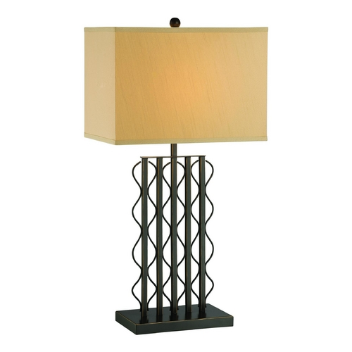 Lite Source Lighting Lite Source Lighting Rexford Black Table Lamp with Rectangle Shade LS-22358