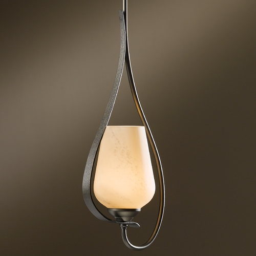 Hubbardton Forge Lighting Hubbardton Forge Lighting Flora Dark Smoke Mini-Pendant Light 18305-332-07-H303