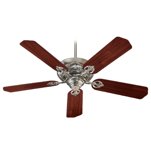 Quorum Lighting Quorum Lighting Chateaux Satin Nickel Ceiling Fan Without Light 78525-6522