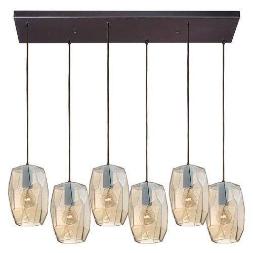 Elk Lighting Elk Lighting Geometrics Oil Rubbed Bronze Multi-Light Pendant 10451/6RC