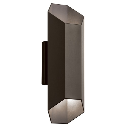 Kichler Lighting Kichler Lighting Estella Textured Architectural Bronze LED Outdoor Wall Light 49608AZTLED