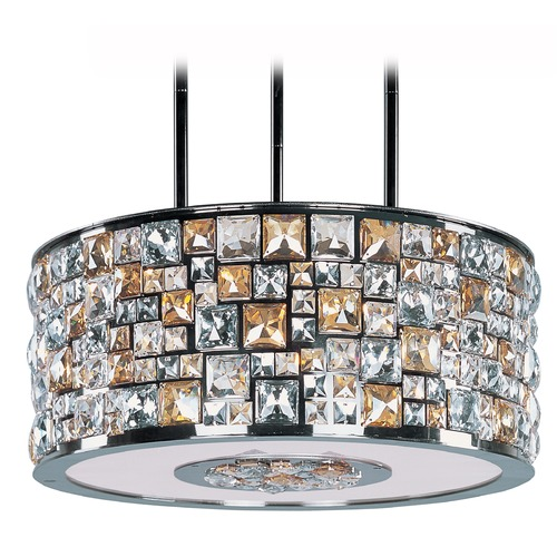 Maxim Lighting Maxim Lighting Fifth Avenue Luster Bronze Pendant Light with Drum Shade 39796JCLB