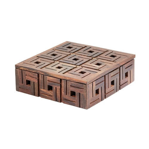 Dimond Lighting Chocolate Teak Patterned Box - Small 784071