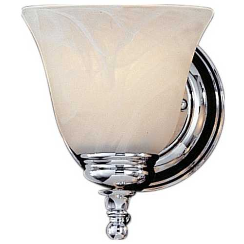 Feiss Lighting Sconce Wall Light with Alabaster Glass in Chrome Finish VS6701-CH