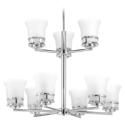 Progress Lighting Progress Lighting Cascadia Polished Chrome Chandelier P4614-15