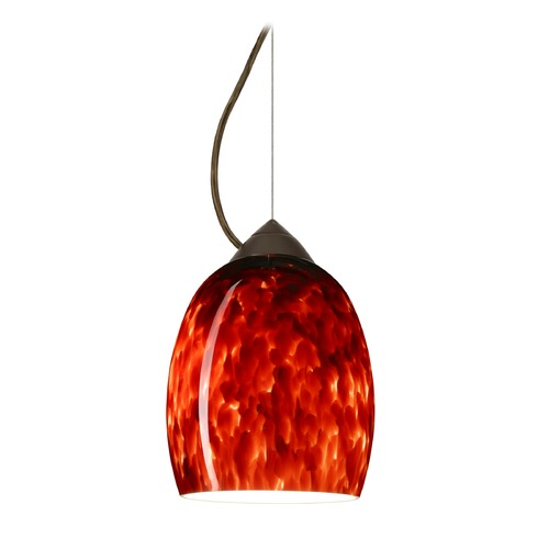 Besa Lighting Besa Lighting Lucia Bronze LED Mini-Pendant Light with Bell Shade 1KX-169741-LED-BR