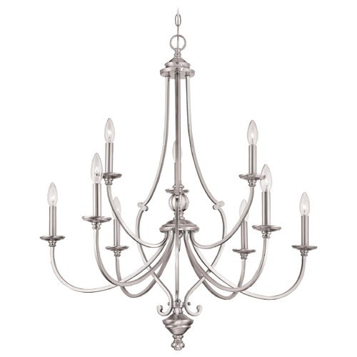 Minka Lighting Minka Savannah Row Brushed Nickel Chandelier 3339-84