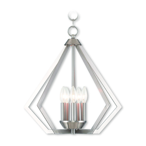 Livex Lighting Livex Lighting Prism Brushed Nickel Chandelier 40925-91
