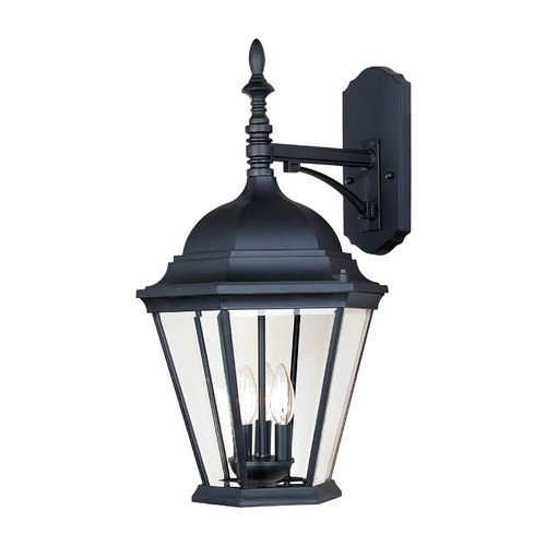 Maxim Lighting Outdoor Wall Light with Clear Glass in Black Finish 1008BK