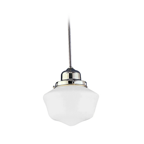 Hudson Valley Lighting Mini-Pendant Light with White Glass 4621-OB