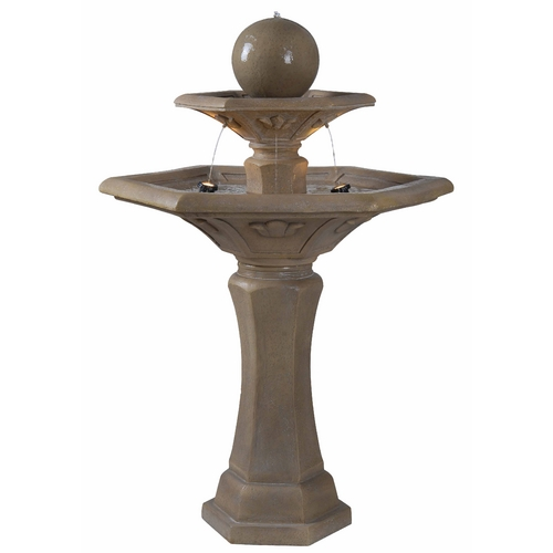 Kenroy Home Lighting Outdoor Fountain in Dark Travertine Finish 50325DT