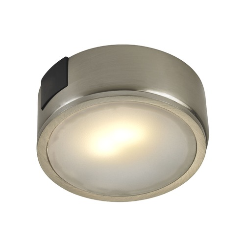 Recesso Lighting by Dolan Designs 121 Volt LED Puck Light Surface Mount 2700K Satin Nickel UCPS-2700-SN