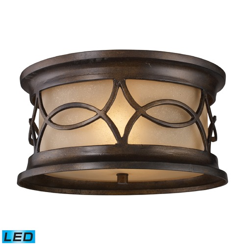 Elk Lighting Elk Lighting Burlington Junction Hazelnut Bronze LED Close To Ceiling Light 41999/2-LED