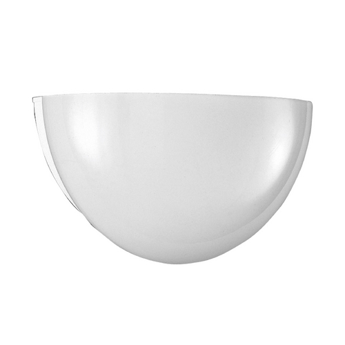 Progress Lighting Progress Modern Sconce Wall Light with White Glass in White Finish P7113-30