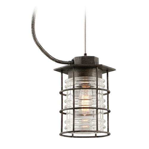 Troy Lighting Troy Lighting Brunswick Aged Pewter Outdoor Hanging Light F3796