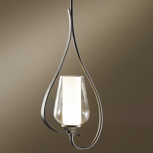 Hubbardton Forge Lighting Hubbardton Forge Lighting Flora Dark Smoke Mini-Pendant Light 18305-332-07-ZS354