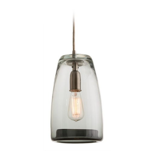 Arteriors Home Lighting Arteriors Home Lighting Javier Smoke Mini-Pendant Light with Bowl / Dome Shade 47438