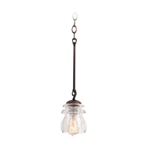 Kalco Lighting Kalco Lighting Brierfield Antique Copper Mini-Pendant Light 6316AC