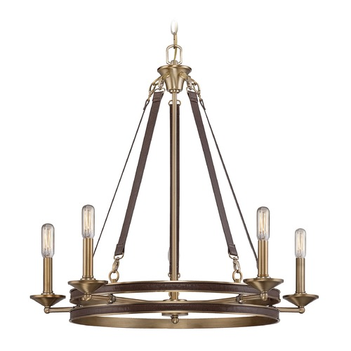 Savoy House Savoy House Lighting Harrington Harness Leather W/ Rubbed Brass Chandelier 1-610-5-50