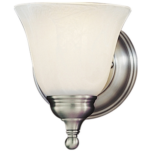 Feiss Lighting Sconce Wall Light with Alabaster Glass in Pewter Finish VS6701-PW