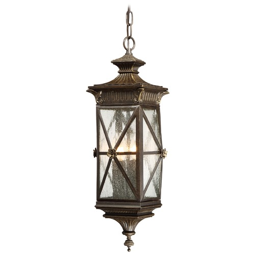 Minka Lavery Seeded Glass Outdoor Hanging Light Bronze Minka Lavery 9314-586