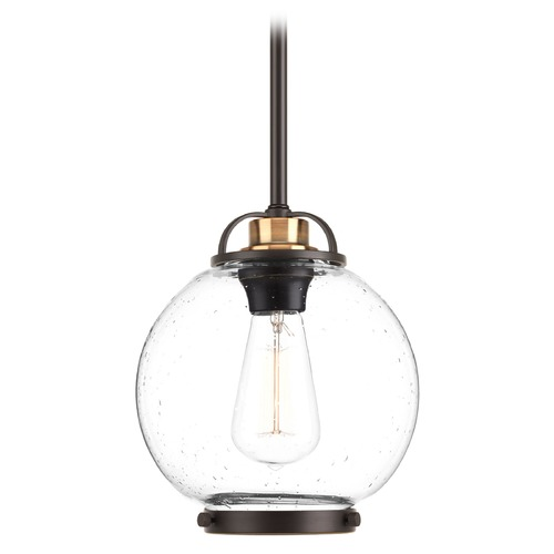 Progress Lighting Progress Lighting Chronicle Antique Bronze Mini-Pendant Light with Globe Shade P5309-20