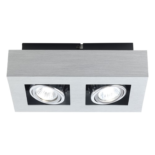 Eglo Lighting Eglo Loke Brushed Aluminum, Chrome, Black Semi-Flushmount Light 89076A
