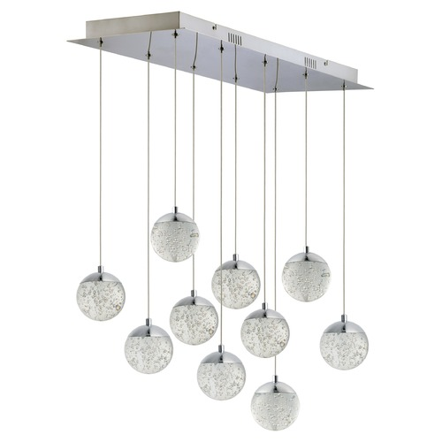 ET2 Lighting ET2 Orb II Polished Chrome LED Multi-Light Pendant with Globe Shade E24266-91PC