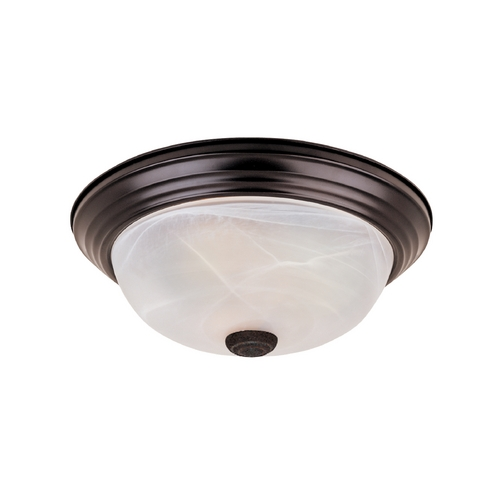Designers Fountain Lighting Flushmount Light with Alabaster Glass in Oil Rubbed Bronze Finish ES1257S-ORB-AL