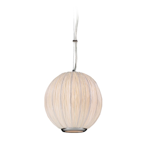 PLC Lighting Modern Mini-Pendant Light with White Shade 73001 IVORY