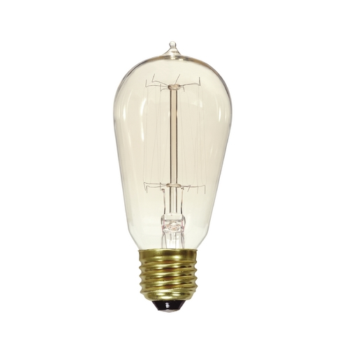 Satco Lighting Vintage Cage Style Carbon Filament Light Bulb - 40-Watts S2413