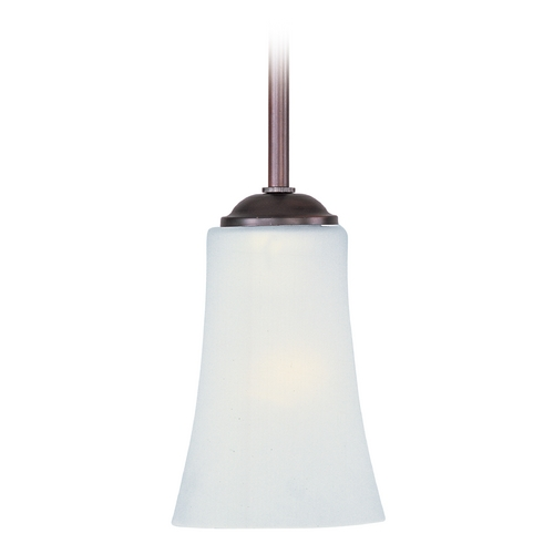 Maxim Lighting Maxim Lighting Logan Oil Rubbed Bronze Mini-Pendant Light with Bell Shade 92040FTOI