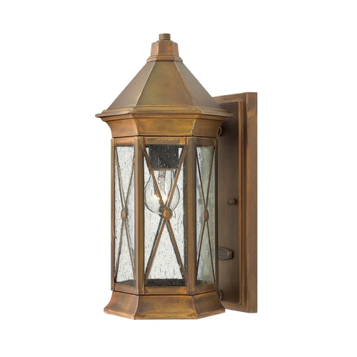 Hinkley Lighting LED Outdoor Wall Light with Clear Cage Shade in Sienna Finish 2290SN-LED