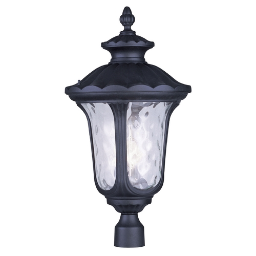 Livex Lighting Livex Lighting Oxford Black Post Light 7864-04