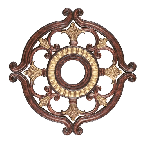Livex Lighting Livex Lighting Verona Bronze with Aged Gold Leaf Accents Ceiling Medallion 8216-63