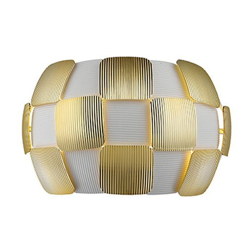 Access Lighting Access Lighting Layers White Sconce 50907-WH/GLD