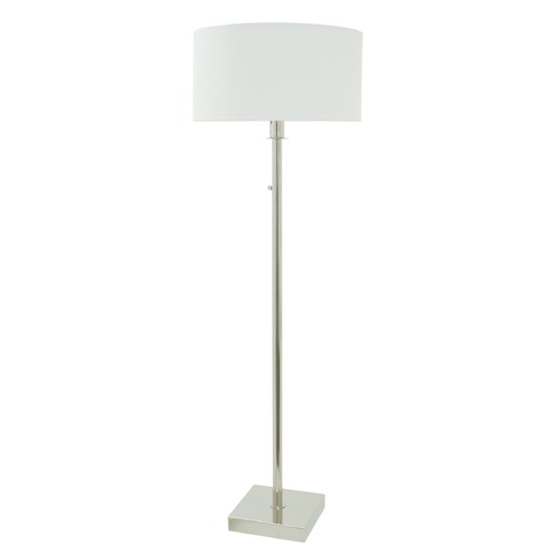 House of Troy Lighting House Of Troy Franklin Polished Nickel Floor Lamp with Drum Shade FR700-PN