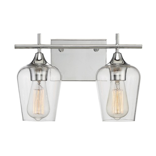 Savoy House Savoy House Lighting Octave Polished Chrome Bathroom Light 8-4030-2-11