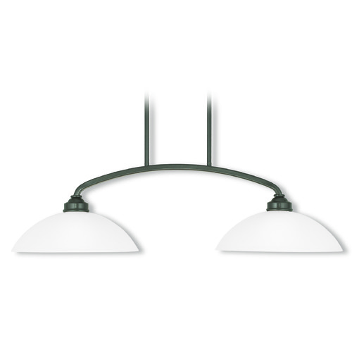 Livex Lighting Livex Lighting Somerset English Bronze Island Light with Bowl / Dome Shade 4222-92