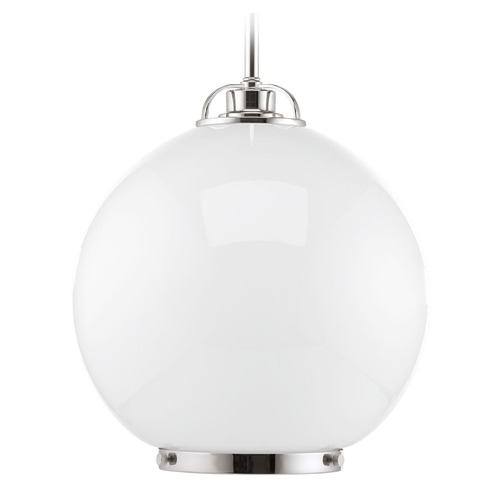 Progress Lighting Progress Lighting Chronicle Polished Nickel Pendant Light with Globe Shade P5311-104