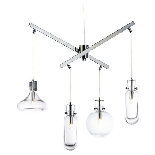 ET2 Lighting ET2 Kem Polished Chrome Pendant Light E24304-18PC