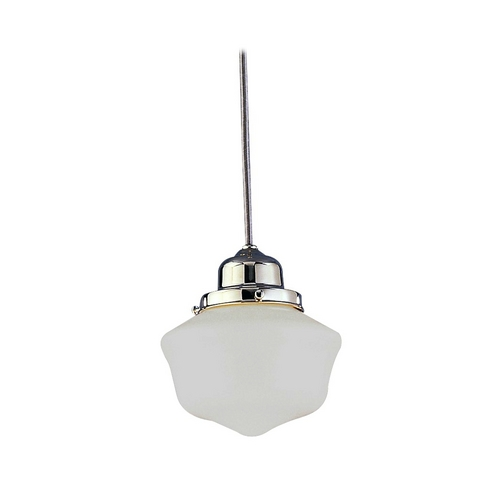 Hudson Valley Lighting Mini-Pendant Light with White Glass 4621-SN