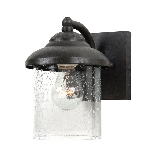 Sea Gull Lighting Outdoor Wall Light with Clear Glass in Oxford Bronze Finish 84068-746