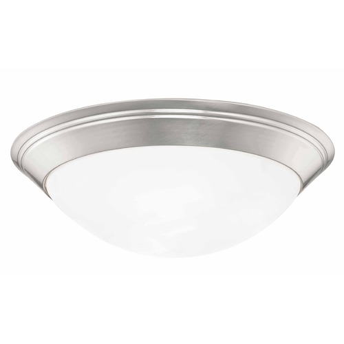 Design Classics Lighting Pau Satin Nickel Flushmount Light - 16-Inches Wide 1016-09/W