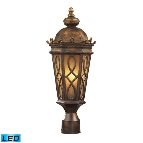 Elk Lighting Elk Lighting Burlington Junction Hazlenut Bronze LED Post Light 42004/2-LED
