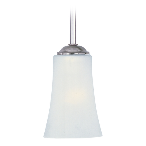 Maxim Lighting Maxim Lighting Logan Satin Nickel Mini-Pendant Light with Bell Shade 92040FTSN