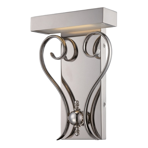 Nuvo Lighting LED Sconce Wall Light in Polished Nickel Finish 62/169