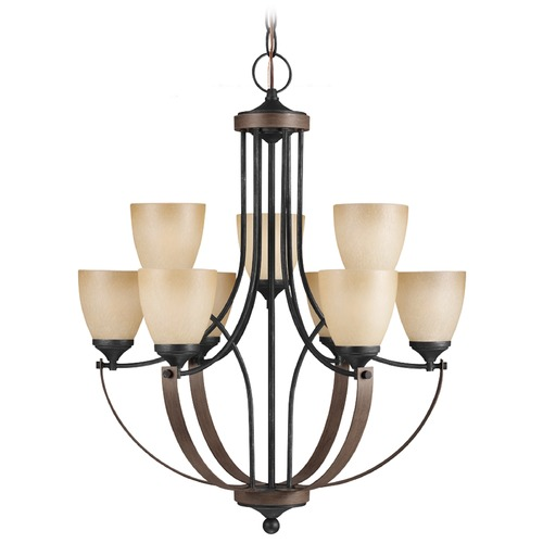 Sea Gull Lighting Sea Gull Lighting Corbeille Stardust / Cerused Oak Chandelier 3180409-846