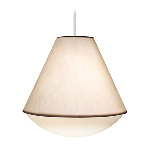 Besa Lighting Besa Lighting Reflex Satin Nickel Pendant Light with Empire Shade 1JT-RFLXWO-SN